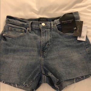 Banana republic high rise short NWT